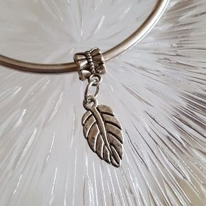 Feather Charm for Charm Bracelet